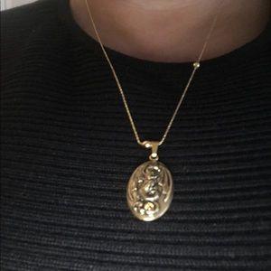 Alex & Ani Chain Station dragon medal expandable